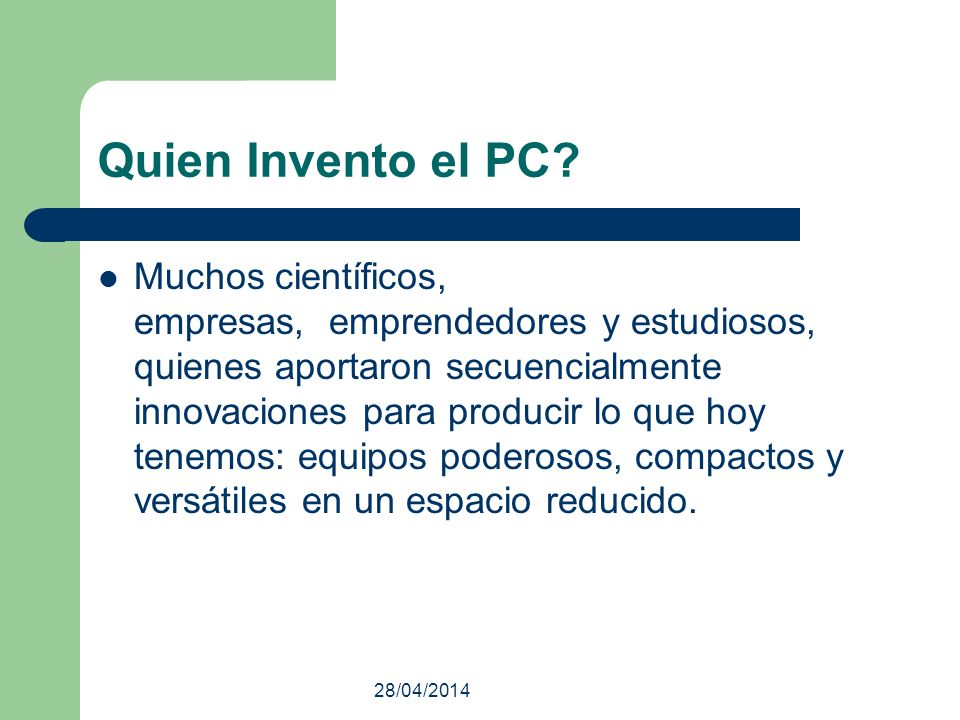 Quien Invento el PC