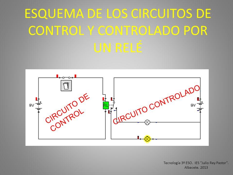 ESQUEMA DE LOS CIRCUITOS DE CONTROL Y CONTROLADO POR UN RELÉ