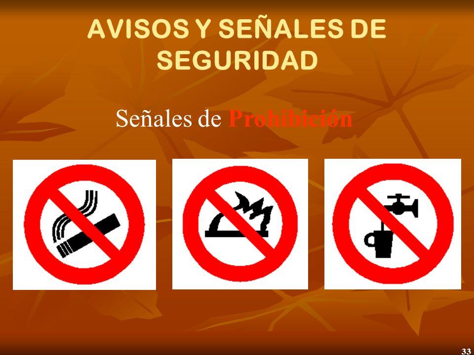 AVISOS Y SEÑALES DE SEGURIDAD