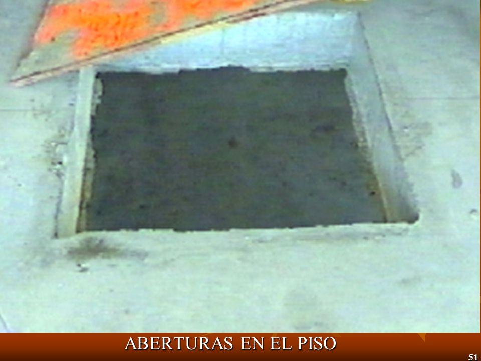 ABERTURAS EN EL PISO
