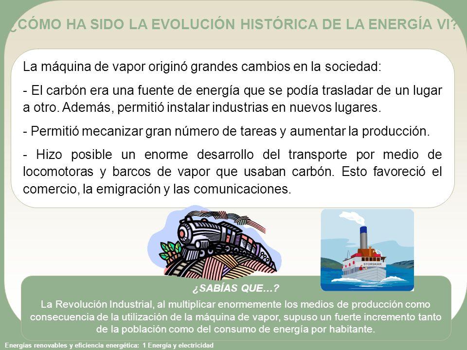 ¿CÓMO HA SIDO LA EVOLUCIÓN HISTÓRICA DE LA ENERGÍA VI