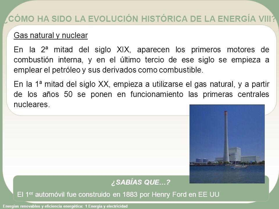 ¿CÓMO HA SIDO LA EVOLUCIÓN HISTÓRICA DE LA ENERGÍA VIII