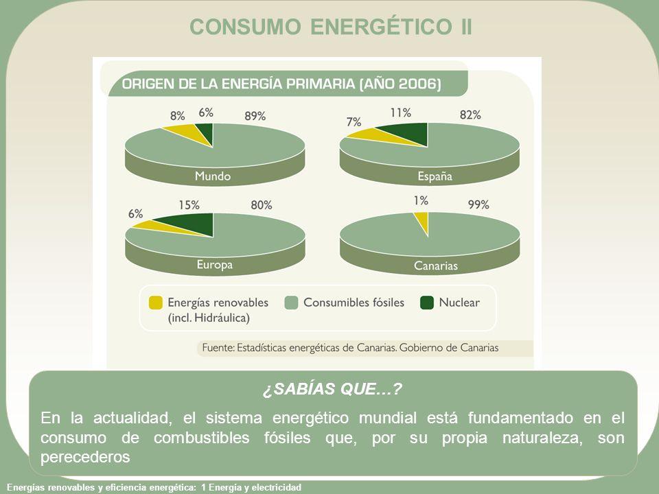 CONSUMO ENERGÉTICO II ¿SABÍAS QUE…