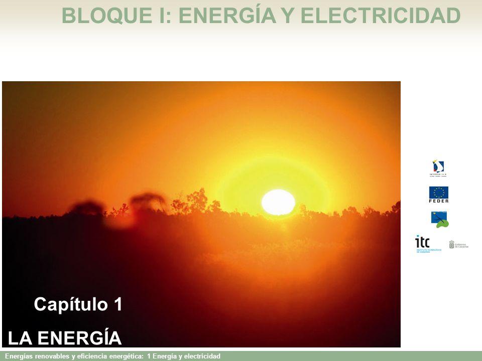 BLOQUE I: ENERGÍA Y ELECTRICIDAD