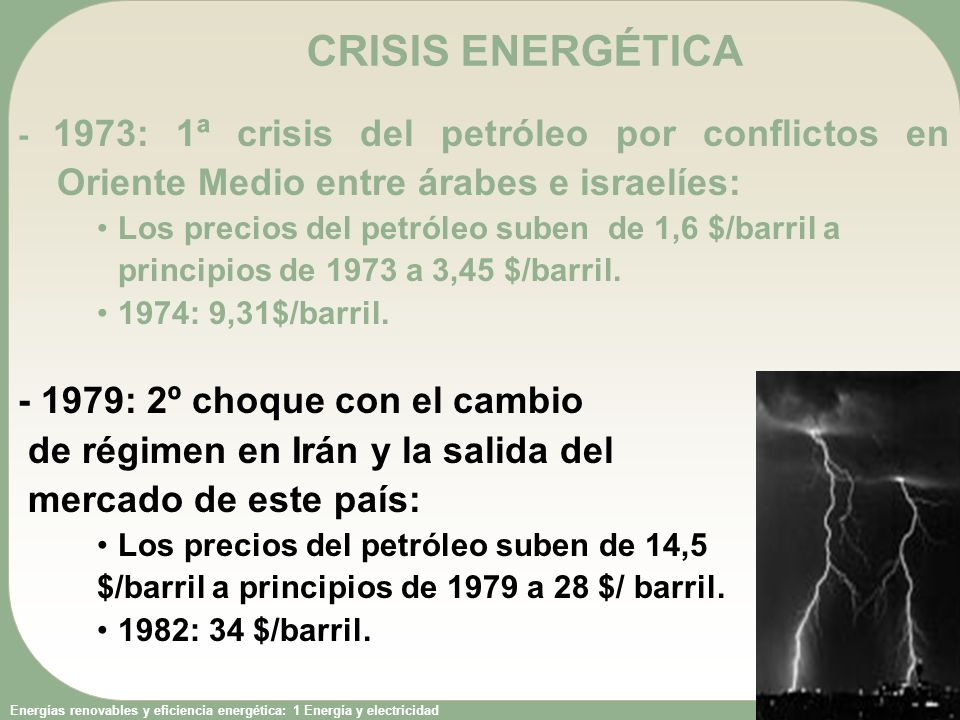 CRISIS ENERGÉTICA - 1979: 2º choque con el cambio
