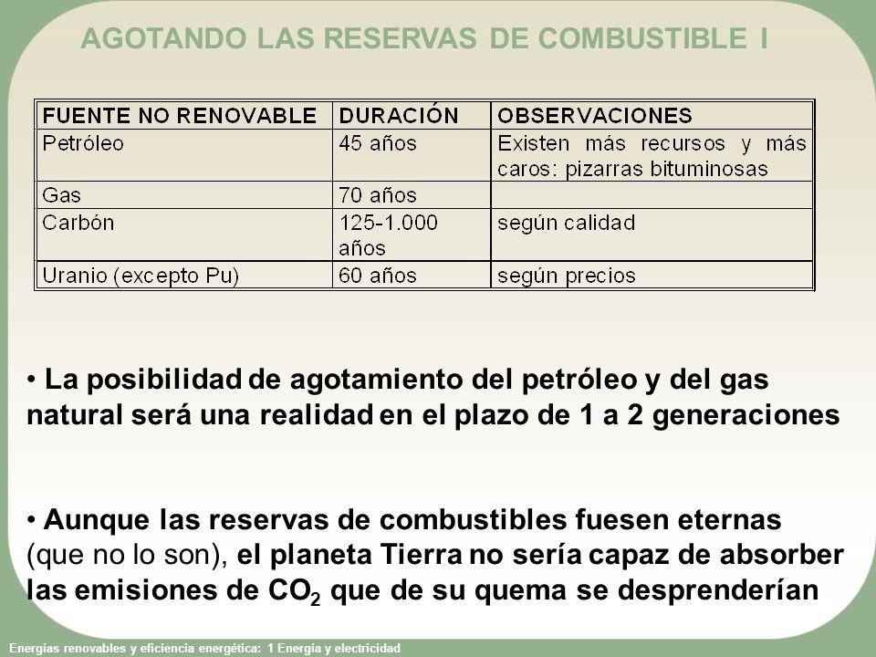 AGOTANDO LAS RESERVAS DE COMBUSTIBLE I