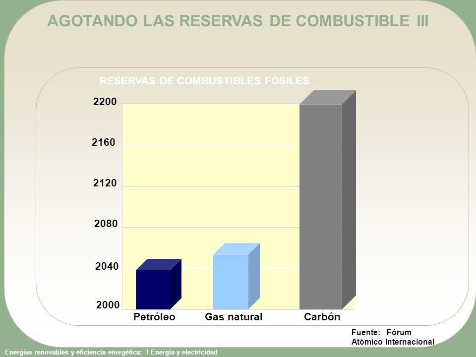 AGOTANDO LAS RESERVAS DE COMBUSTIBLE III