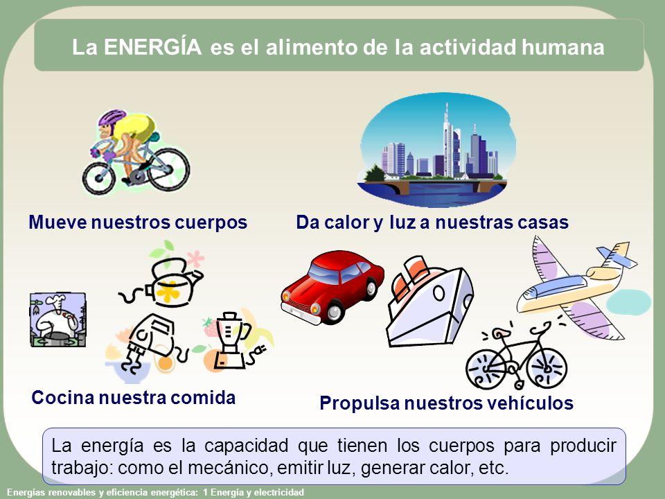La ENERGÍA es el alimento de la actividad humana