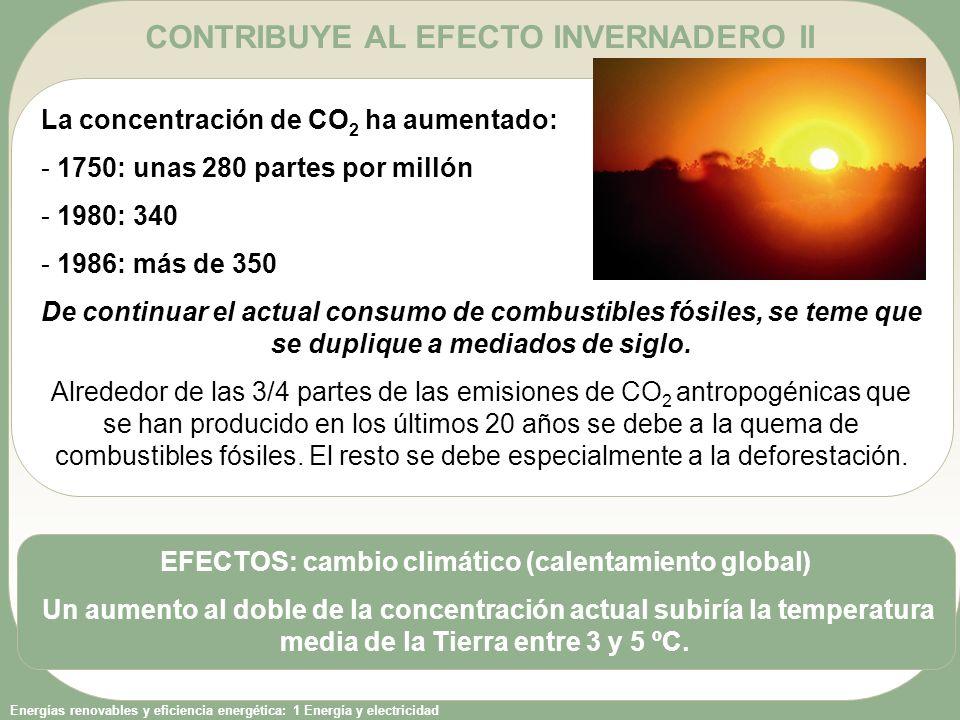 CONTRIBUYE AL EFECTO INVERNADERO II