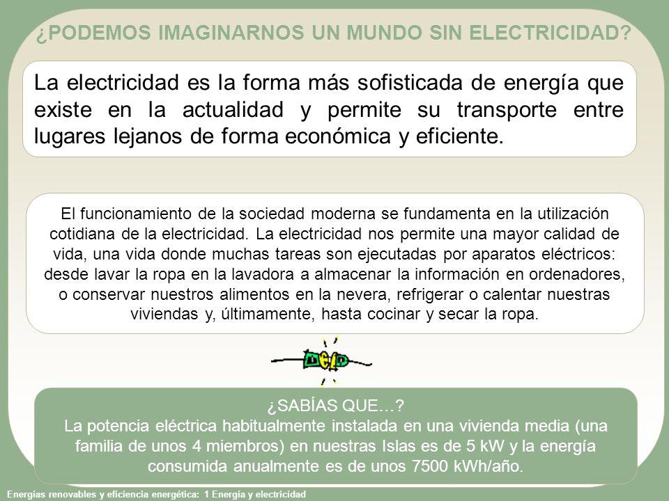 ¿PODEMOS IMAGINARNOS UN MUNDO SIN ELECTRICIDAD