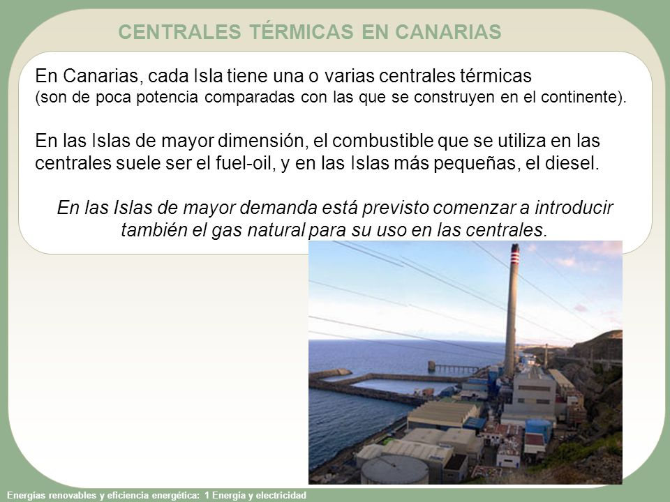 CENTRALES TÉRMICAS EN CANARIAS