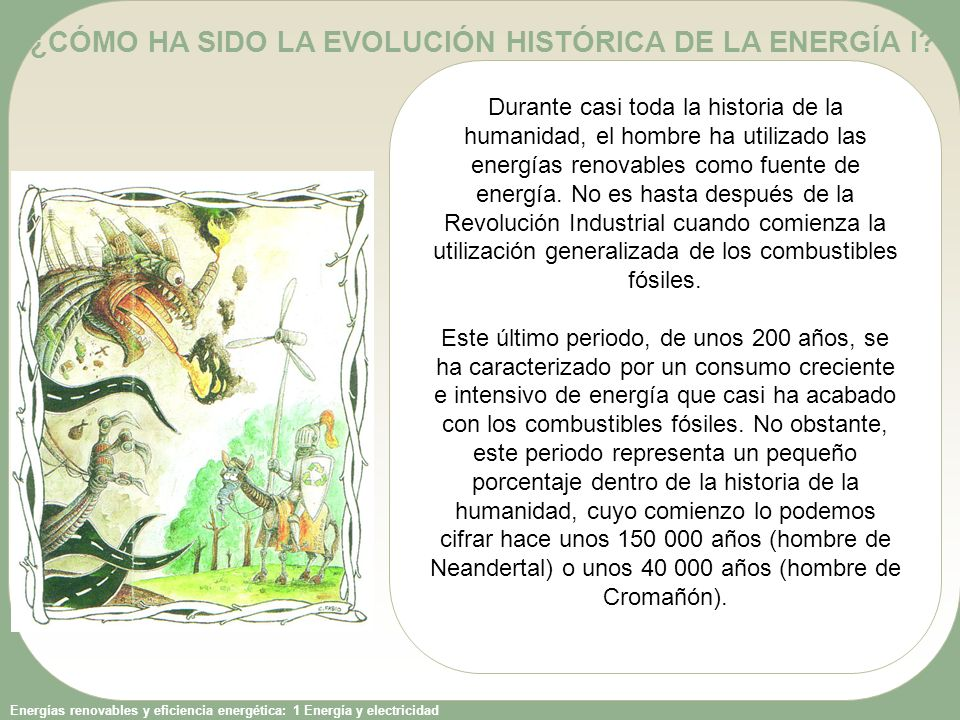 ¿CÓMO HA SIDO LA EVOLUCIÓN HISTÓRICA DE LA ENERGÍA I