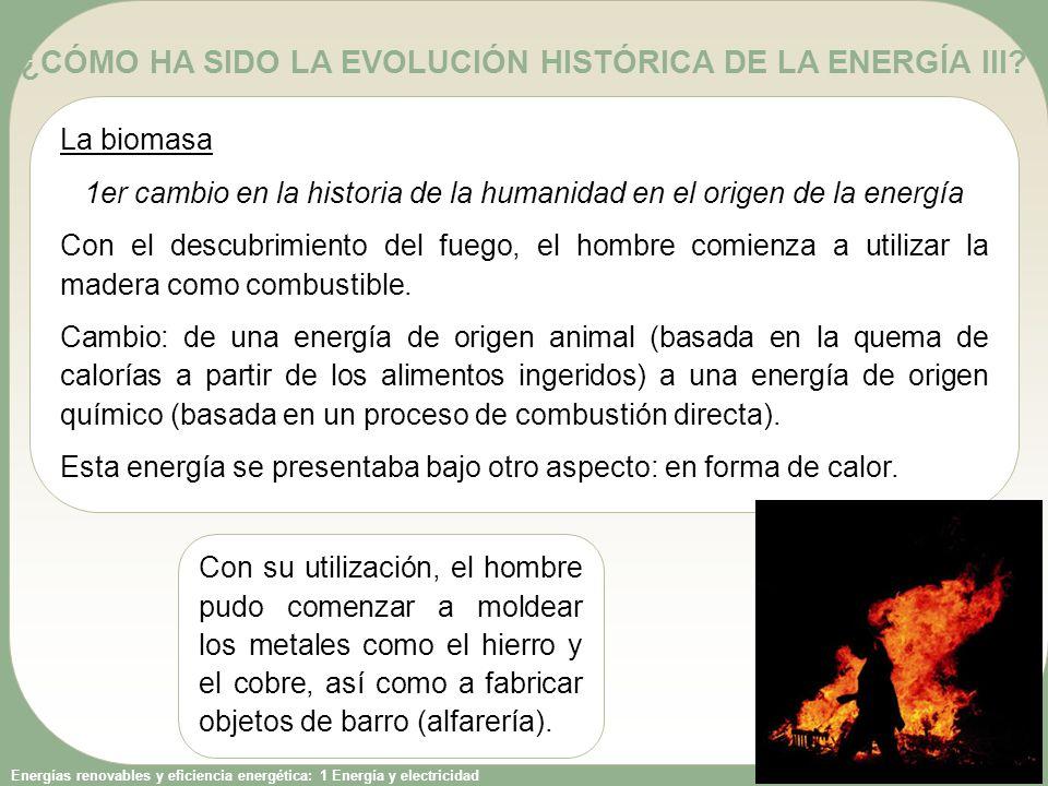 ¿CÓMO HA SIDO LA EVOLUCIÓN HISTÓRICA DE LA ENERGÍA III