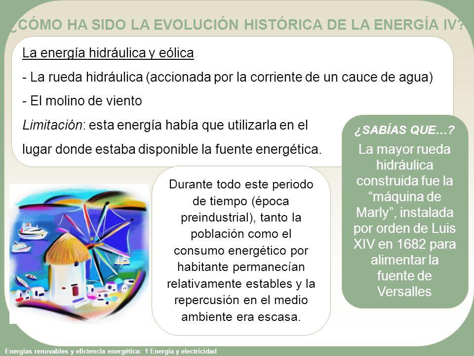 ¿CÓMO HA SIDO LA EVOLUCIÓN HISTÓRICA DE LA ENERGÍA IV