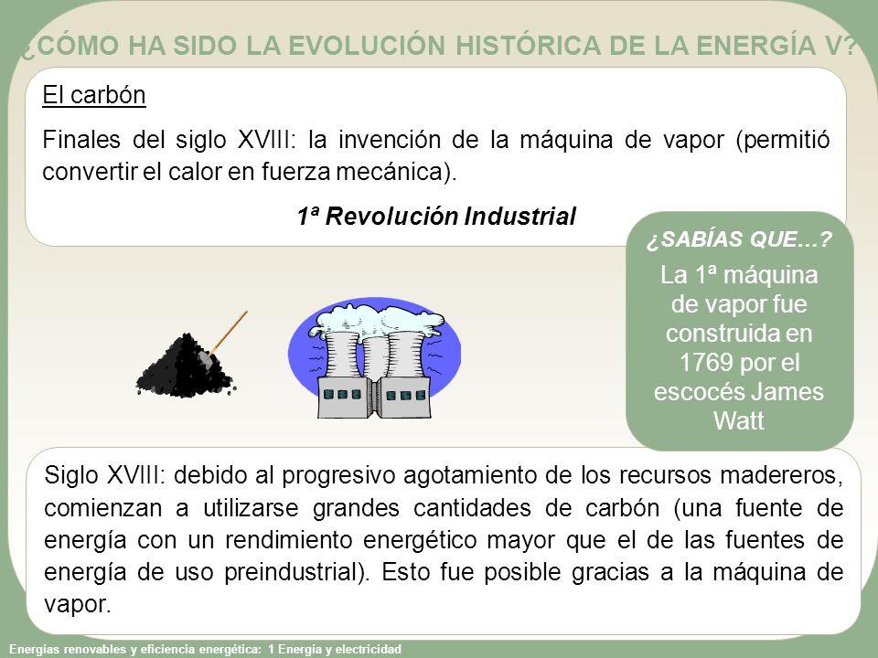 ¿CÓMO HA SIDO LA EVOLUCIÓN HISTÓRICA DE LA ENERGÍA V