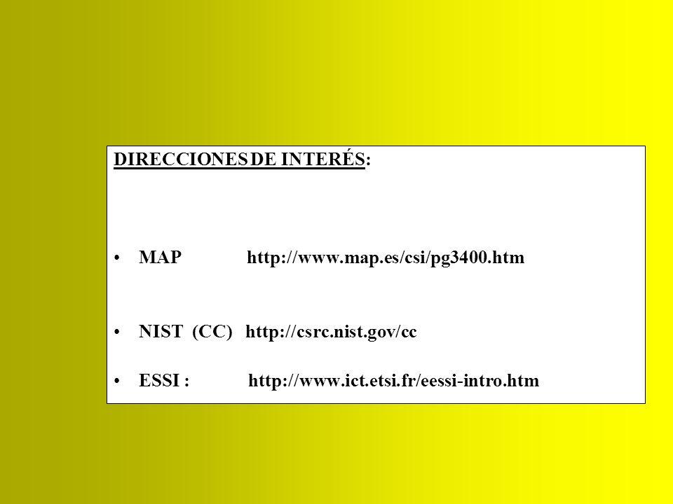 DIRECCIONES DE INTERÉS: