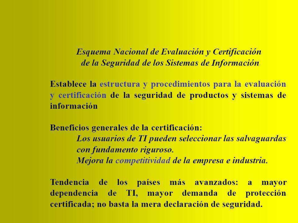 Esquema Nacional de Evaluación y Certificación