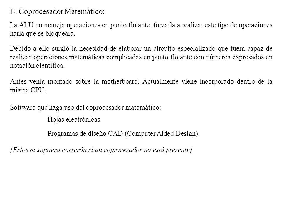 El Coprocesador Matemático: