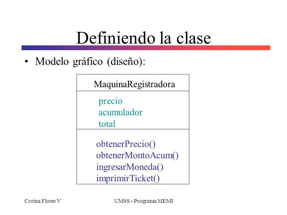 Definiendo la clase Modelo gráfico (diseño): MaquinaRegistradora