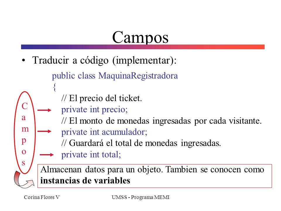 Campos Traducir a código (implementar):