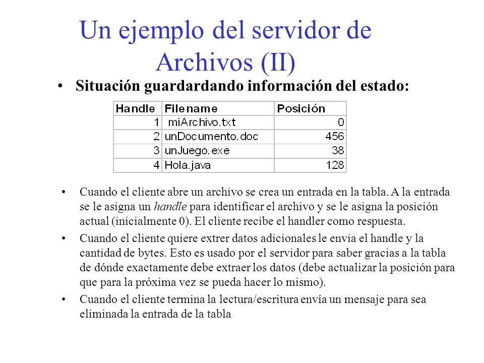 Un ejemplo del servidor de Archivos (II)