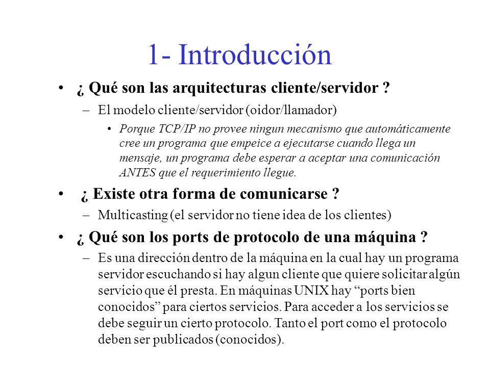1- Introducción ¿ Qué son las arquitecturas cliente/servidor