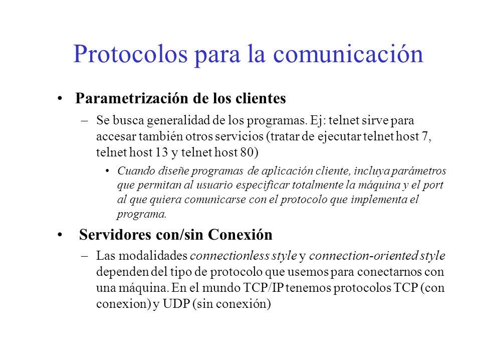 Protocolos para la comunicación