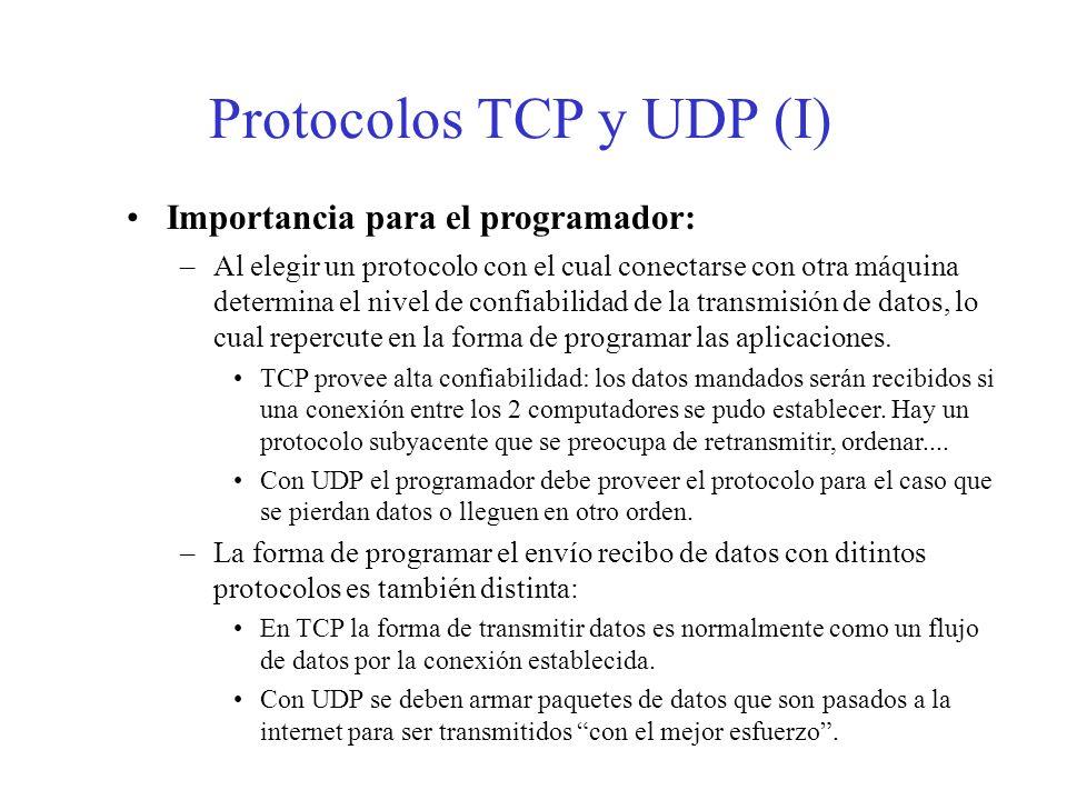 Protocolos TCP y UDP (I)