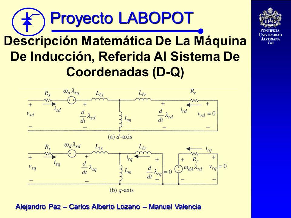 Descripción Matemática De La Máquina De Inducción, Referida Al Sistema De Coordenadas (D-Q)