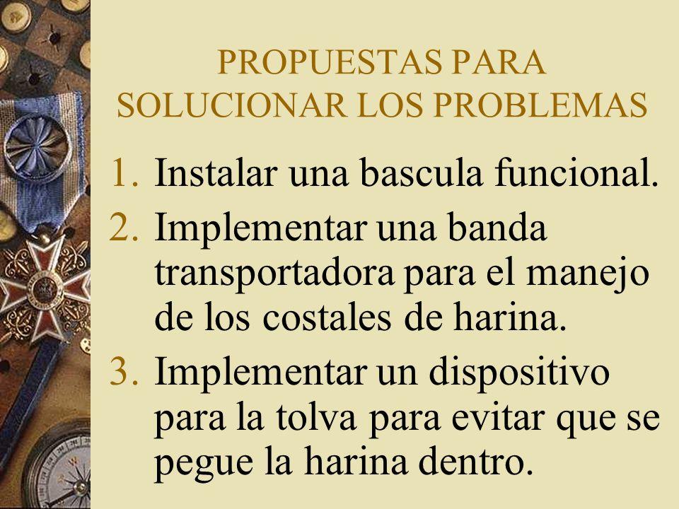 PROPUESTAS PARA SOLUCIONAR LOS PROBLEMAS