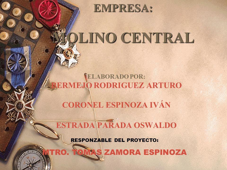 EMPRESA: MOLINO CENTRAL