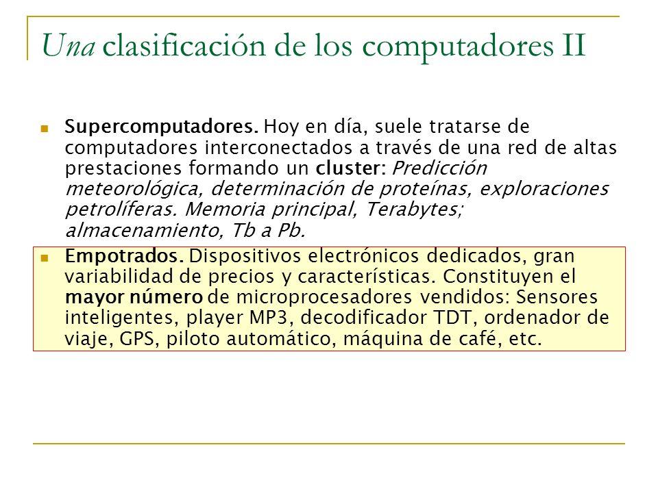 Una clasificación de los computadores II