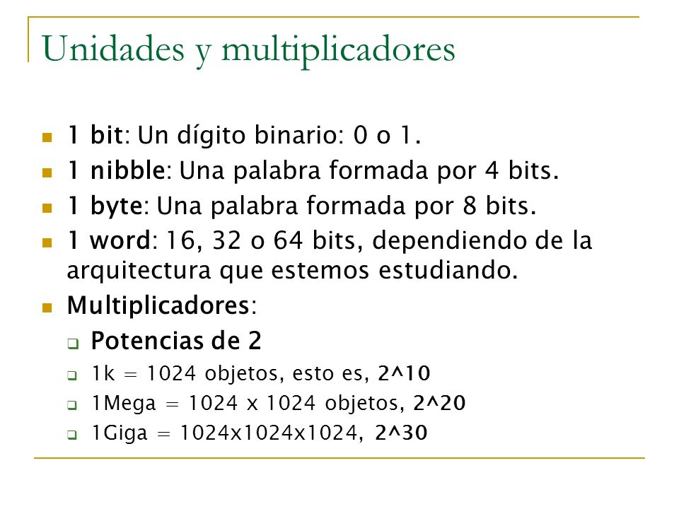Unidades y multiplicadores