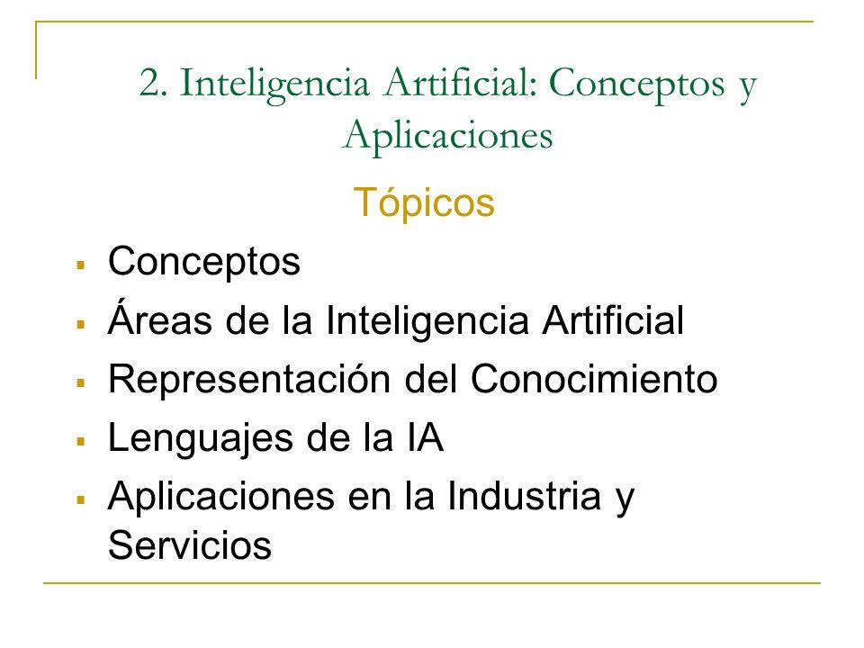 2. Inteligencia Artificial: Conceptos y Aplicaciones