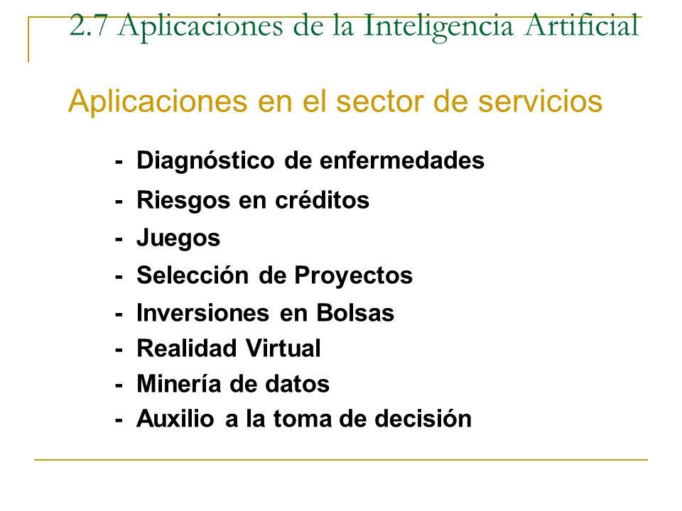 2.7 Aplicaciones de la Inteligencia Artificial