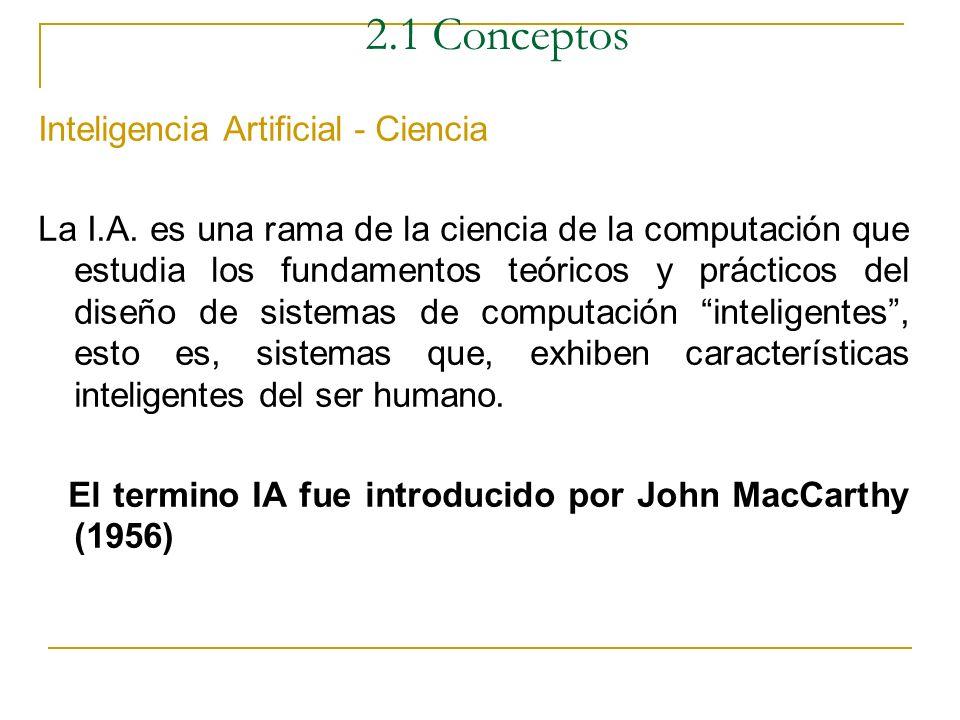 2.1 Conceptos Inteligencia Artificial - Ciencia