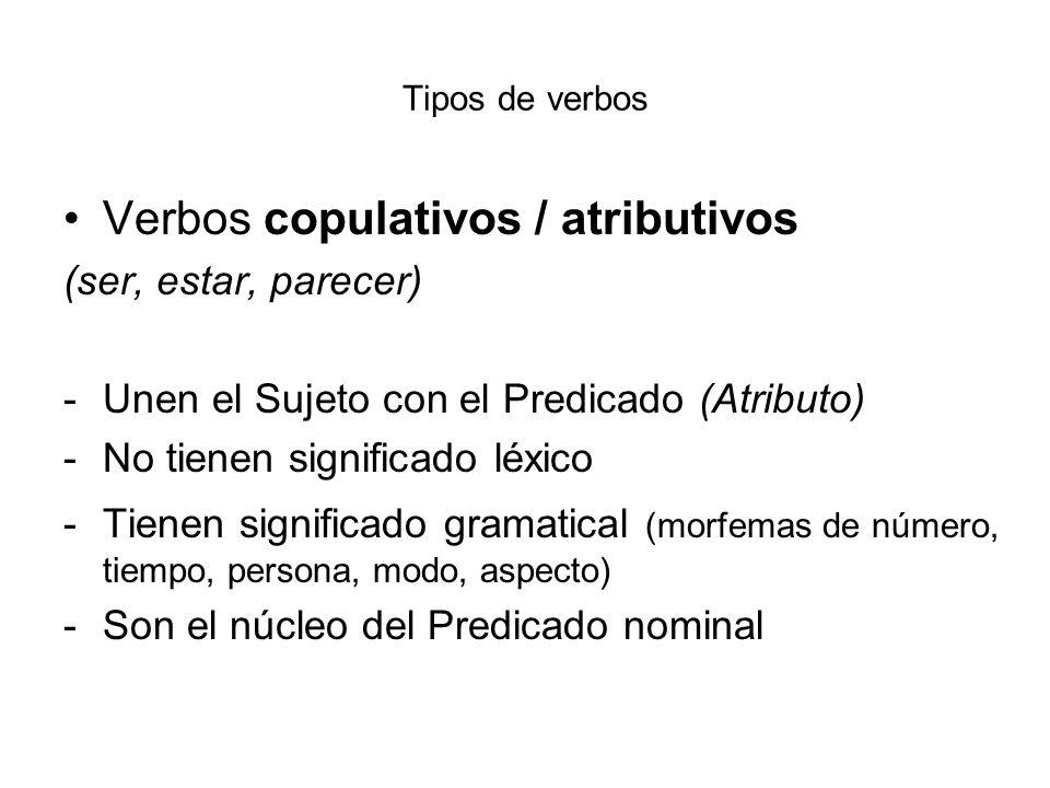 Verbos copulativos / atributivos