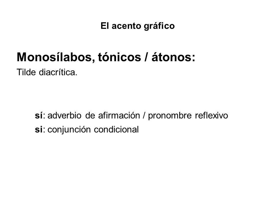Monosílabos, tónicos / átonos:
