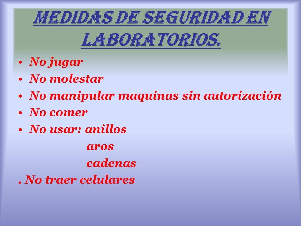 Medidas de seguridad en laboratorios.
