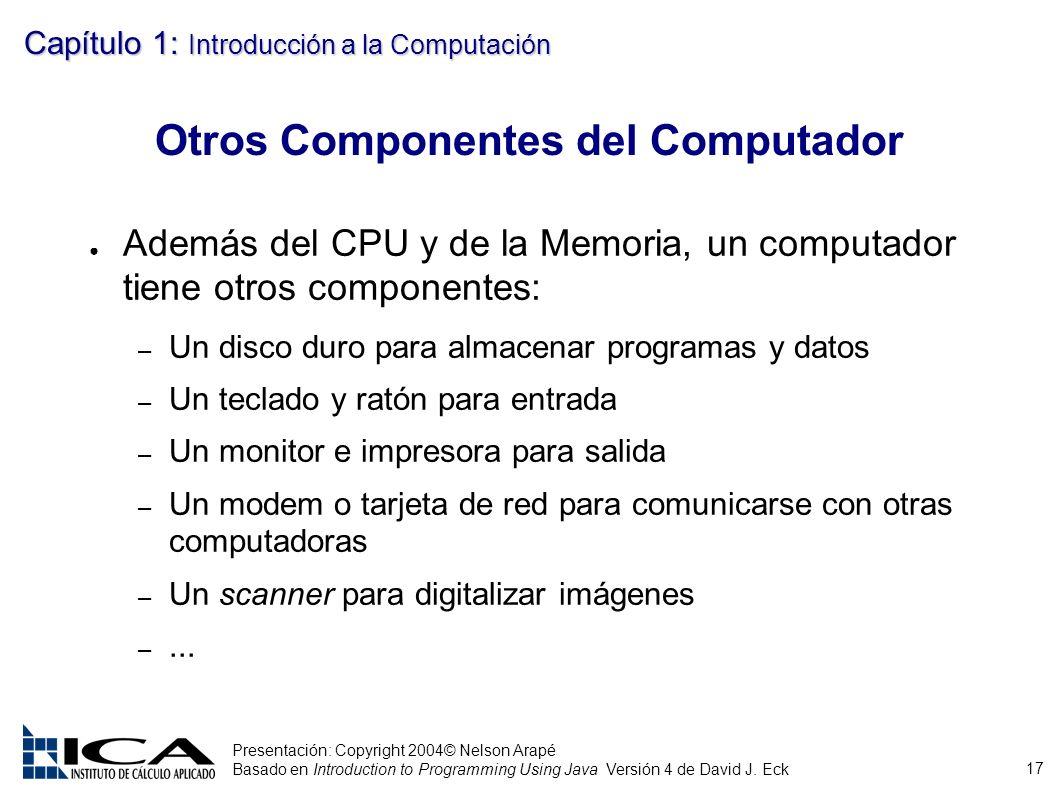 Otros Componentes del Computador