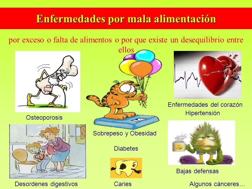 Enfermedades por mala alimentación