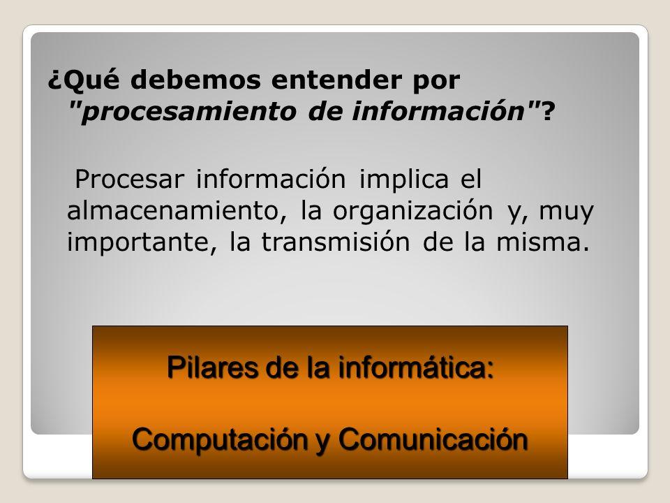 Pilares de la informática: Computación y Comunicación