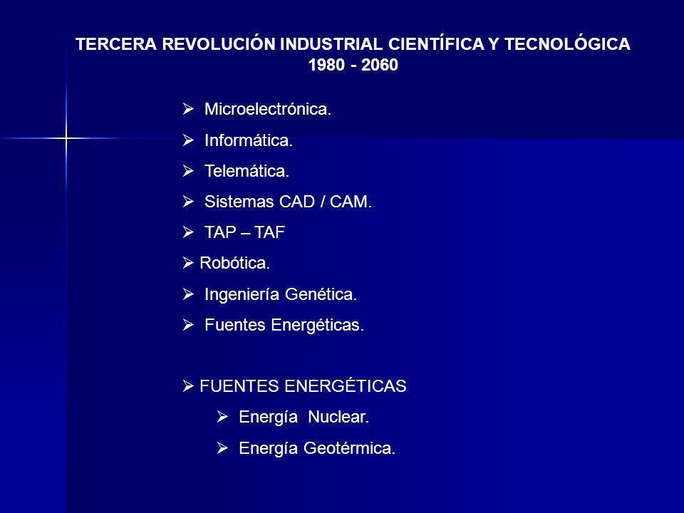 TERCERA REVOLUCIÓN INDUSTRIAL CIENTÍFICA Y TECNOLÓGICA