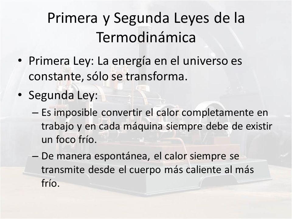 Primera y Segunda Leyes de la Termodinámica