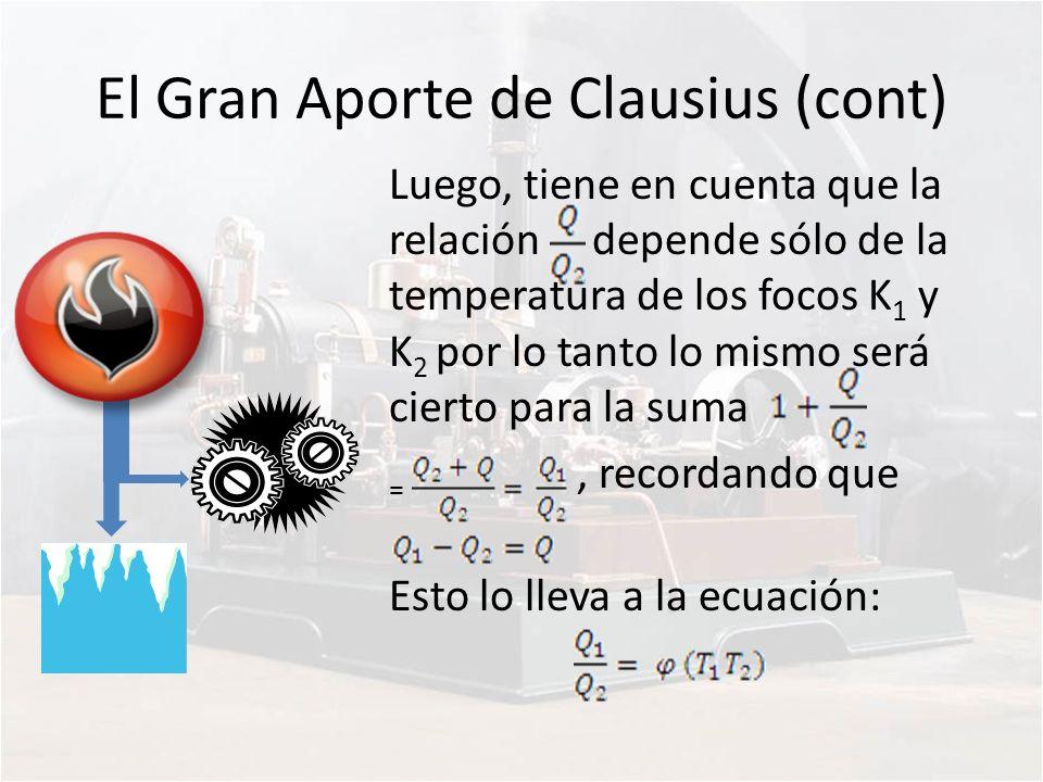 El Gran Aporte de Clausius (cont)