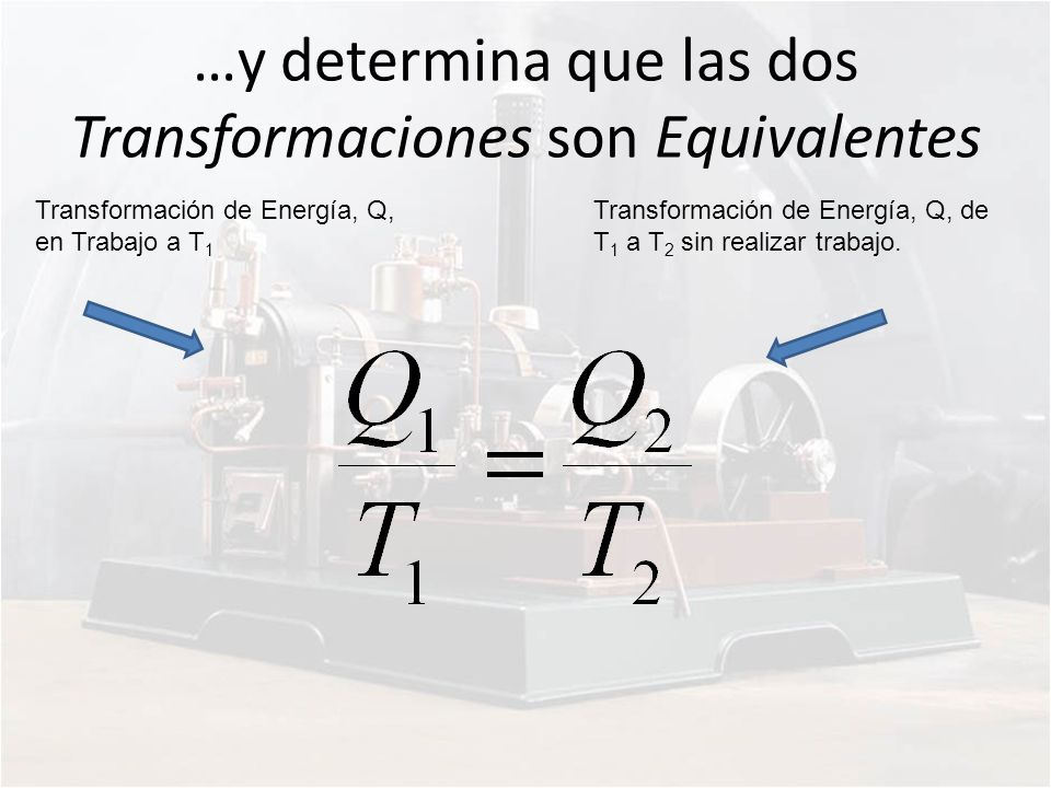 …y determina que las dos Transformaciones son Equivalentes