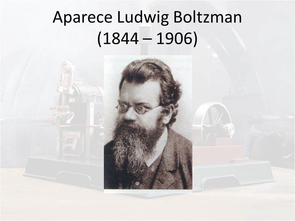 Aparece Ludwig Boltzman (1844 – 1906)