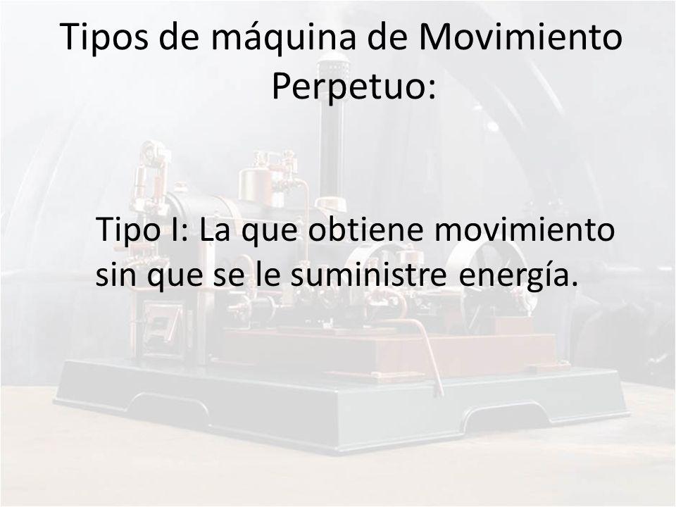 Tipos de máquina de Movimiento Perpetuo: