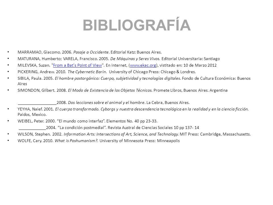 BIBLIOGRAFÍA MARRAMAO, Giacomo. 2006. Pasaje a Occidente. Editorial Katz: Buenos Aires.