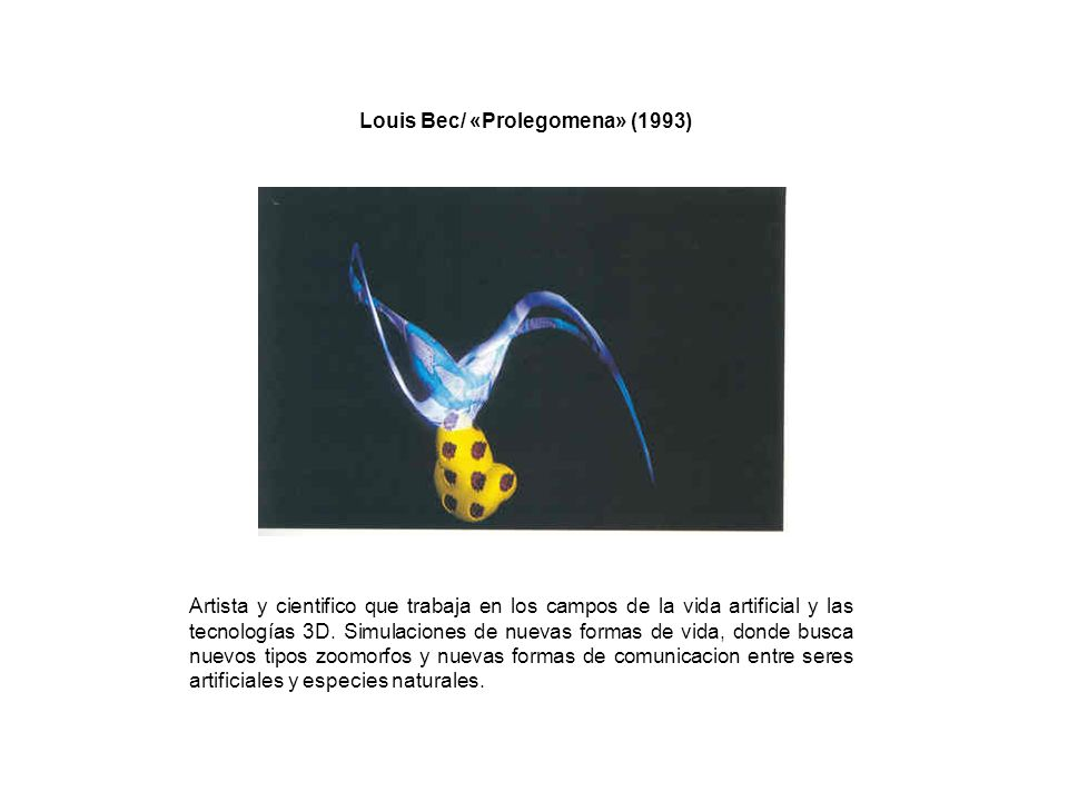 Louis Bec/ «Prolegomena» (1993)